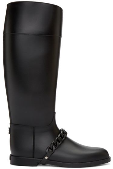 Givenchy - Black Rubber Rain Boots