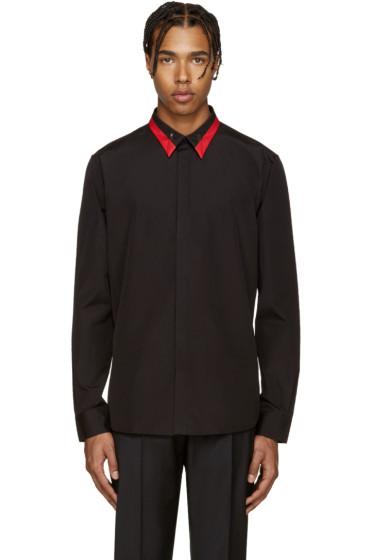 Givenchy - Black & Red Collar Shirt