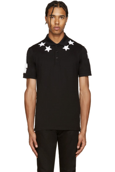 Givenchy - Black Stars & Numbers Polo