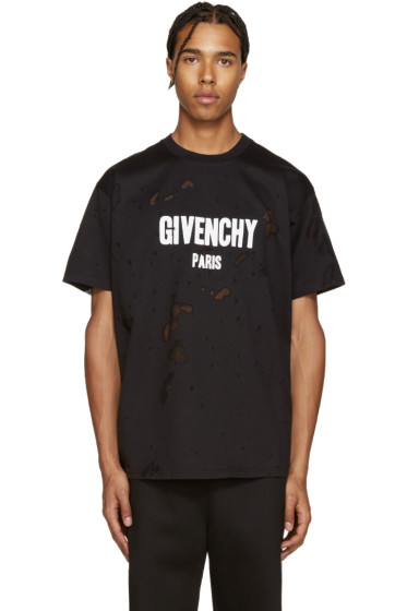 Givenchy - Black Destroyed T-Shirt