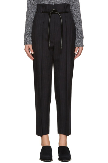 3.1 Phillip Lim - Navy Pinstripe Origami Trousers