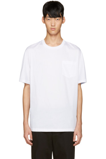 3.1 Phillip Lim - White & Blue Dolman T-Shirt