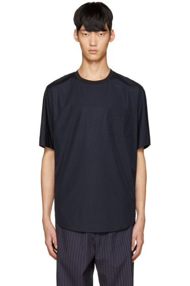 3.1 Phillip Lim - Blue Poplin T-Shirt