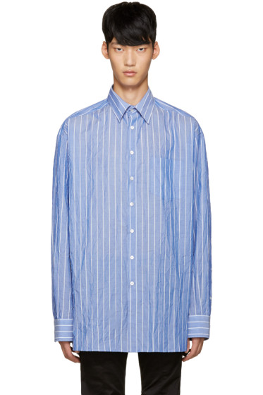 Raf Simons - Blue Striped Extra Big Shirt