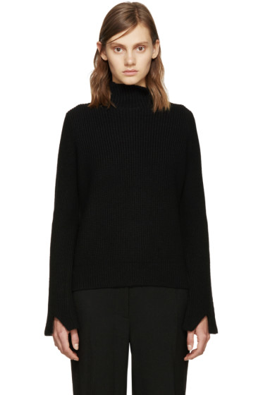 Proenza Schouler - Black Wool Ribbed Sweater