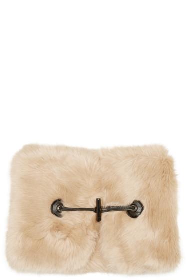 Carven - Beige Faux-Fur Collar