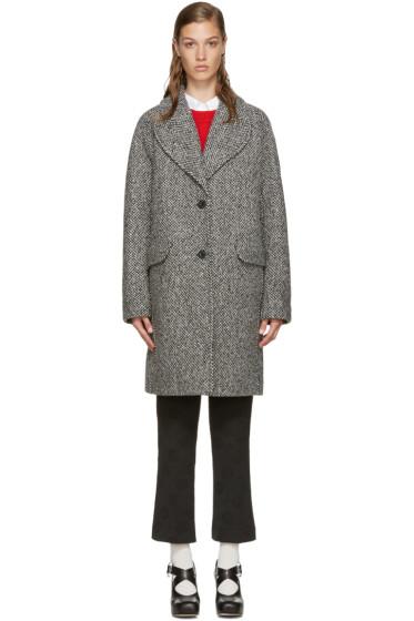 Carven - Black & White Tweed Coat