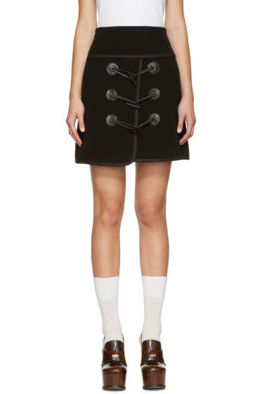 Carven - Black Toggle Miniskirt