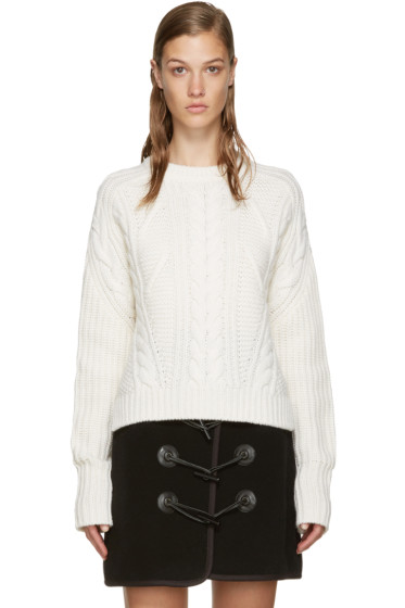 Carven - Beige Cable Knit Sweater