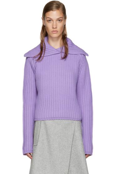 Carven - Purple Vented Collar Sweater