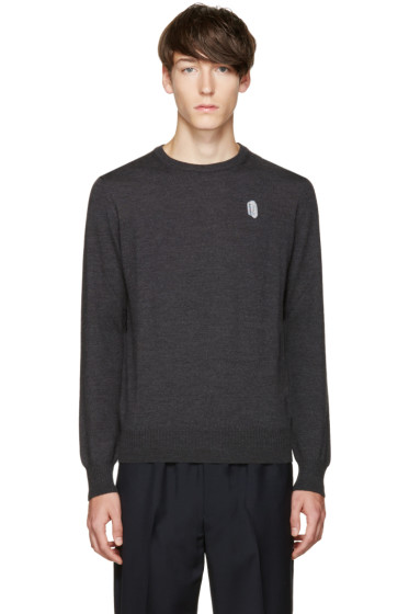 Carven - Grey Merino Logo Sweater