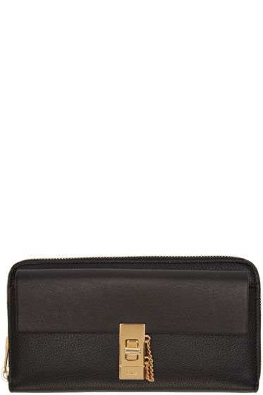 Chloé - Black Long Drew Wallet