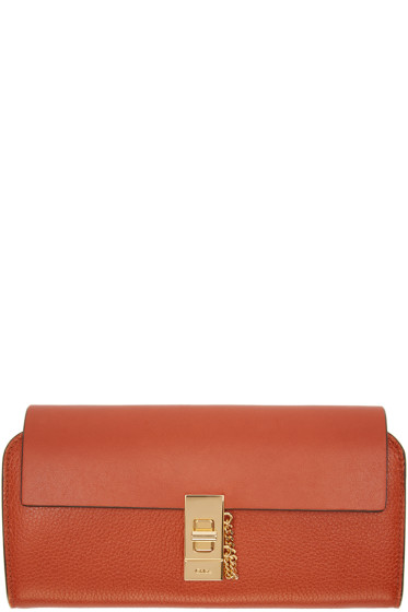 Chloé - Orange Long Drew Wallet