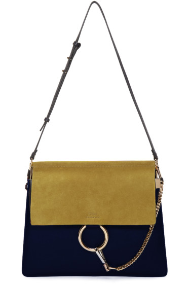 Chloé - Navy & Yellow Medium Faye Bag