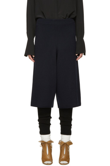 Chloé - Navy Cashmere Culottes