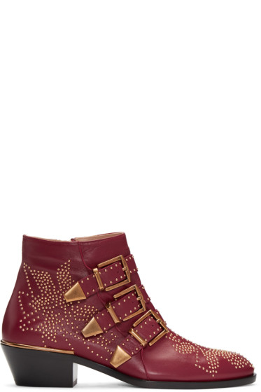 Chloé - Red Susanna Boots
