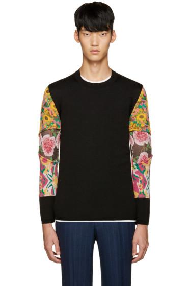 Comme des Garçons Homme Plus - Black Floral Sleeves Sweater