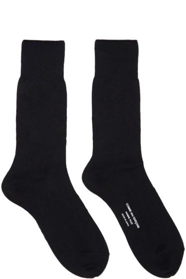 Comme des Garçons Homme Plus - Black Tonal Floral Socks