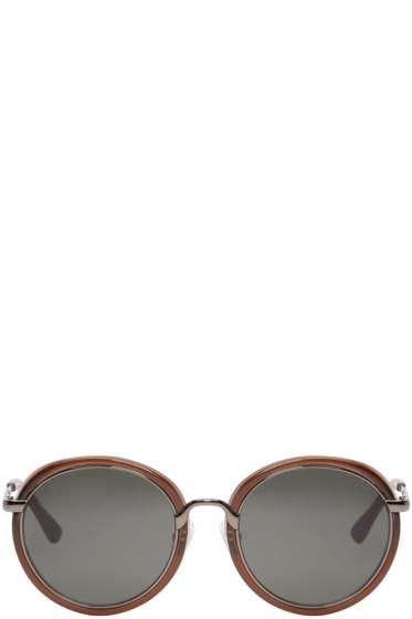 Dries Van Noten - Brown Round Sunglasses