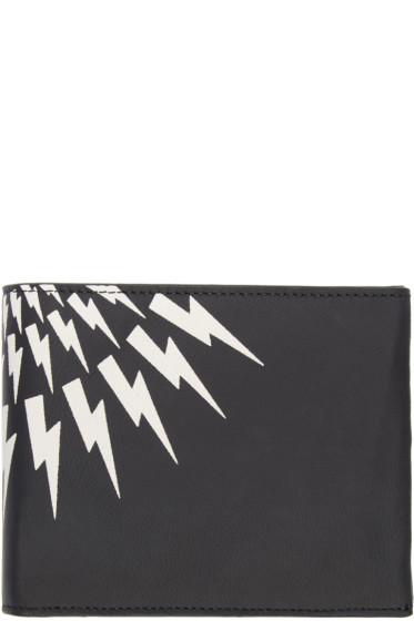 Neil Barrett - Black Nubuck Classic Thunderbolt Wallet