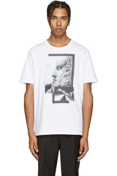 Neil Barrett - White Liberty Presidents T-Shirt
