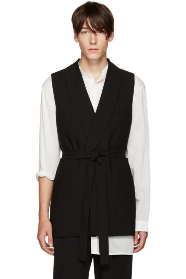 Ann Demeulemeester - Black Belted Vest
