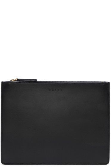 Marni - Black Leather Document Holder