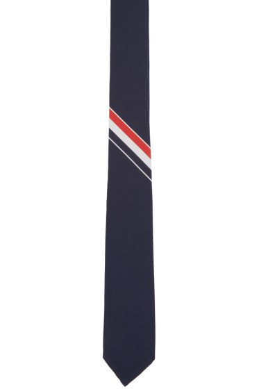 Thom Browne - Navy Striped Tie