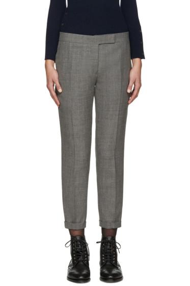 Thom Browne - Grey Wool Skinny Trousers