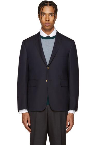 Thom Browne - Navy Wool Classic Blazer