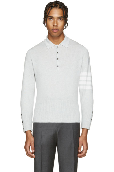 Thom Browne - Grey Cashmere Polo