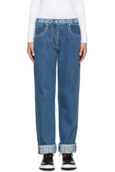 Kenzo - Blue Logo Jeans
