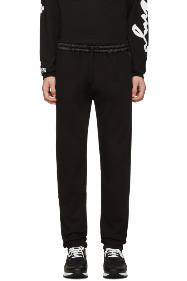 Kenzo - Black Satin-Trimmed Lounge Pants