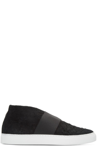 Diemme - Black Suede Cassola Mid-Top Sneakers
