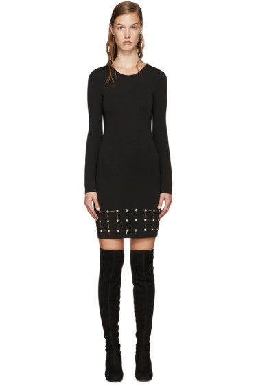Versus - Black Laser-Cut Dress