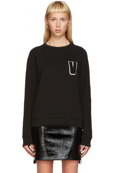 Versus - Black Embroidered V Sweatshirt