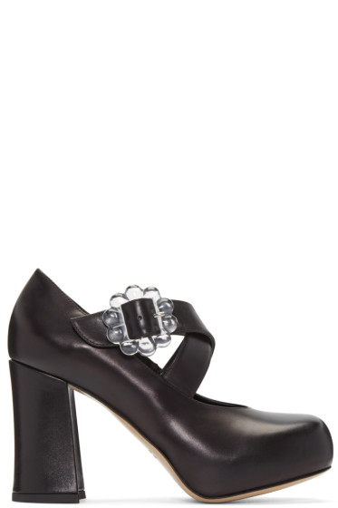 Simone Rocha - Black Transparent Buckle Heels