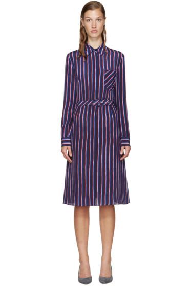 Altuzarra - Navy Striped Marian Dress