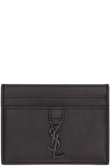 Saint Laurent - Black Monogram Card Holder