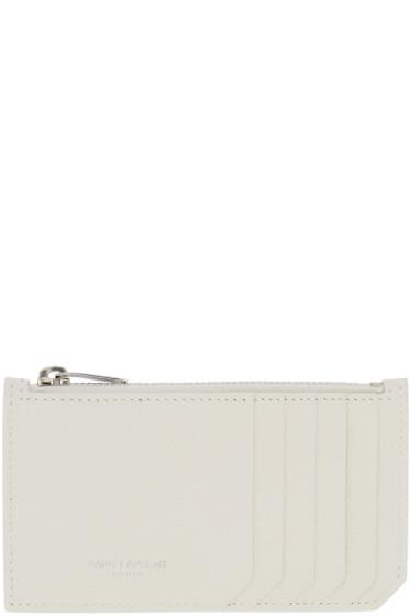 Saint Laurent - White 5 Fragments Card Holder