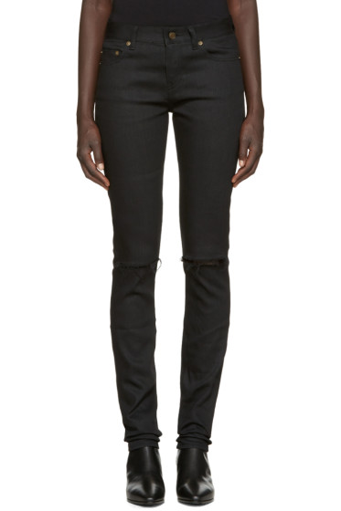 Saint Laurent - Black Destroyed Jeans
