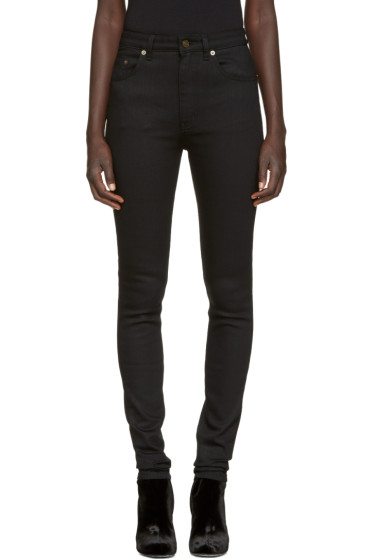 Saint Laurent - Black High-Rise Jeans