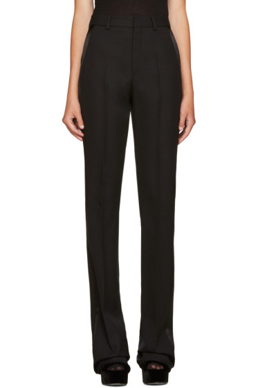 Saint Laurent - Black Satin Trim Trousers