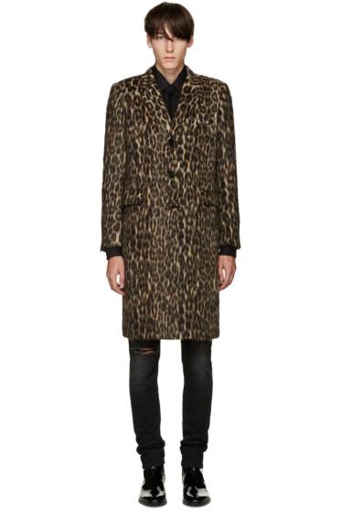 Saint Laurent - Brown Leopard Coat
