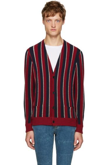 Saint Laurent - Tricolor Striped Cardigan