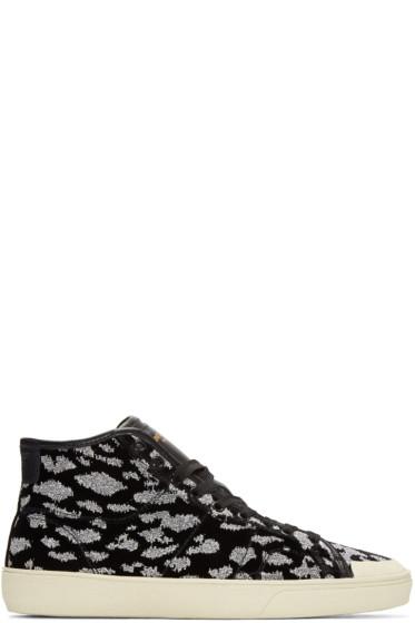 Saint Laurent - Black Animal Print SL/37 Sneakers