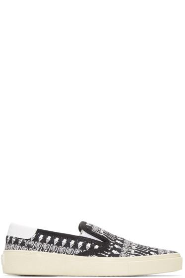Saint Laurent - Black Skeleton Skate Sneakers