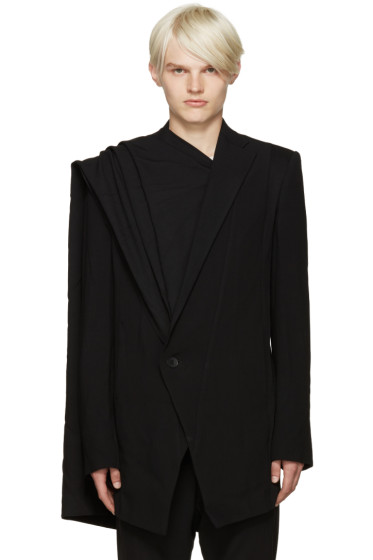 Julius - Black Layered Wool Blazer