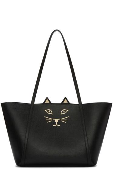 Charlotte Olympia - Black Mini Feline Shopper