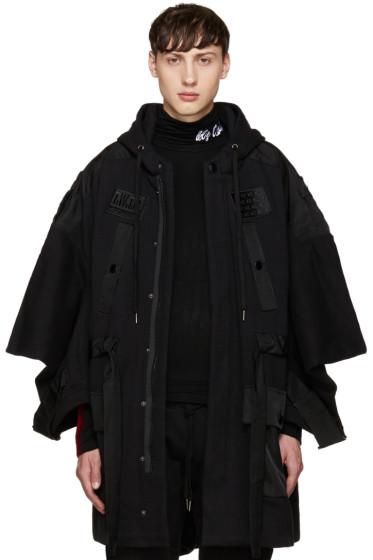 KTZ - Black Jersey Patches Coat